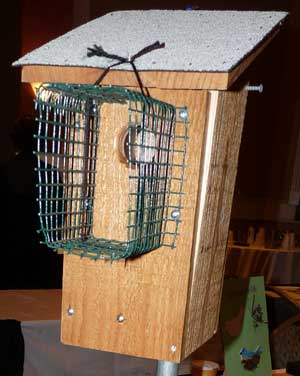 How to make a Noel Guard to deter raccoons and cats Raccoon Bird House Plan on brown-headed cowbird bird house plans, moose bird house plans, horned owl bird house plans, duck bird house plans, hummingbird bird house plans, bluejay bird house plans, woodpecker bird house plans, house finch bird house plans, bat bird house plans, western bluebird bird house plans,