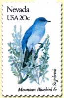 State of Nevada stamp from 1982 series.